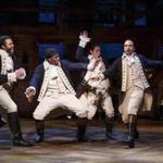 "From left: Daveed Diggs, Okieriete Onaodowan, Anthony Ramos, and Lin-Manuel Miranda in the play ""Hamilton,"" part of PBS's"