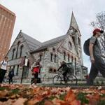 Amherst , MA., 10/21/16, The historic Old Chapel at UMass Amherst reopens this fall after being closed for nearly 20 years because of safety concerns. Globe staff/Suzanne Krater