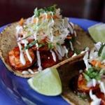 Shrimp tacos at Casa Verde in Jamaica Plain.