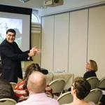 "Adil Najam, dean of the Frederick S. Pardee School of Global Studies at Boston University, gave a presentation at the ""Meet Your Muslim Neighbors"" event about being a Muslim in America."