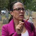 Cemetery preservationist Kelly Thomas of the Historic Burying Grounds Initiative is a caregiver for 16 historic burying grounds and cemeteries, including the Granary, King's Chapel, and Copp's Hill.