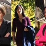 Maura Healey (left), Michelle Wu, and Linda Dorcena Forry.