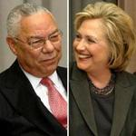 Colin Powell (left) and Hillary Clinton in 2014.