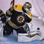 Bruins goalie Malcolm Subban watched the first of the Wild's three second period goals. He was pulled from the game.