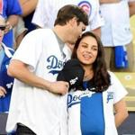 Mila Kunis and Ashton Kutcher in October.