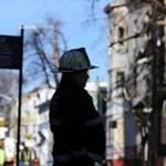 Deputy Chief Michael Morrissey of the Cambridge Fire Department looked over Berkshire Street.
