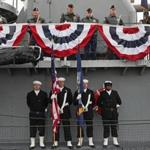 A ceremony marking the 75th anniversary of the Pearl Harbor attack was held aboard the USS Cassin Young, a ship named after a Navy commander who was awarded the Medal of Honor for his actions during the attack.
