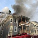 The fire began at about 3:05 p.m. Thursday.