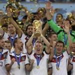 German player Bastian Schweinsteiger held up the World Cup after his team won the 2014 tournament.