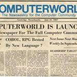 first edition of computerworld magazine, founded in 1967 by patrick mcgovern. handout credit