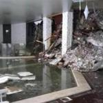 This photo taken from a video shows show piles of snow and rubble cascading down the stairway into the foyer of the hotel Rigopiano in Farindola, Italy, early Thursday, Jan. 19, 2017. A hotel in the mountainous region hit again by quakes has been covered by an avalanche, with reports of dead. Italian media say the avalanche covered the three-story hotel in the central region of Abruzzo, on Wednesday evening. (Italian Finance Police via AP)