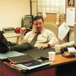 "Ricky Gervais as David Brent in the BBC's production of ""The Office."""