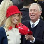 Kellyanne Conway talked with Dan Quayle during the inauguration.