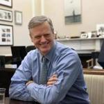 Governor Charlie Baker in his office at the State House.