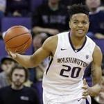 Washington's Markelle Fultz in action against Arizona in an NCAA college basketball game Saturday, Feb. 18, 2017, in Seattle. (AP Photo/Elaine Thompson)