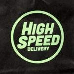 The logo on a High Speed marijuana gift bag.