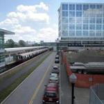 "A contractor and subcontractor have agreed to pay to resolve allegations that they knowingly submitted ""false and inflated pay estimates"" in connection to the construction of the Assembly Square Station (at left) in Somerville."