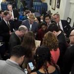 Reporters from multiple media outlets said they were barred from attending a White House press briefing Friday.