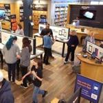 Customers visited the new Amazon bookstore at Legacy Place in Dedham on Saturday.