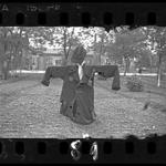 """Lodz ghetto: Scarecrow with yellow Jude star"" by Henryk Ross."