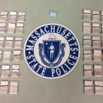 More than 600 bags of heroin were seized in a Tuesday night arrest.