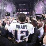 FILE — New England Patriots quarterback Tom Brady after Super Bowl XLIX at University of Phoenix Stadium in Glendale, Ariz., Feb. 1, 2015. Missing jerseys belonging to Brady, from Super Bowl LI and Super Bowl XLIX, were reportedly found in Mexico in the possession of a credentialed member of the international media. (Doug Mills/The New York Times)