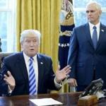 President Trump and Vice President Pence were in the Oval Office on Friday.