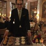 The dessert tray at Le Dali in Le Meurice hotel.