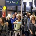 Stress levels for airline passengers begin to rise at the security checkpoints.