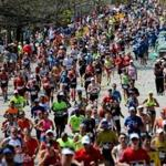 Newton, MA- April 17, 2017: Runners begin their climb up Heartbreak Hill on Commonwealth Avenue in Newton, MA, on April 17, 2017. It is the 121st running of the Boston Marathon, a 26.2-mile journey from Hopkinton to Copley Square. (Globe staff photo / Craig F. Walker) section: metro reporter
