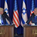 US President Donald Trump and Israel's Prime Minister Benjamin Netanyahu deliver a press statement before an official diner in Jerusalem on May 22, 2017. / AFP PHOTO / MANDEL NGANMANDEL NGAN/AFP/Getty Images
