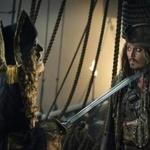 Geoffrey Rush (left) and Johnny Depp in 'Pirates of the Caribbean: Dead Men Tell No Tales,''