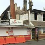 Saturday's blaze is believed to have started in a ventilation duct. It left the Red Shack restaurant gutted.