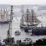 Tall ships sailed into the harbor on June 17.