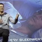 "Tom Brady was promoting Under Armour's ""Athlete Recovery Sleepwear Powered by TB12."""