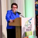 Women's Sports Foundation founder Billie Jean King speaks onstage during the Women's Sports Foundation 45th Anniversary of Title IX celebration at the New-York Historical Society on June 22, 2017 in New York City. (Photo by Dia Dipasupil/Getty Images)