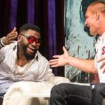 David Ortiz and Rob Gronkowski at the Ortiz roast at the House of Blues.
