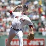 Boston, MA - 6/25/2017 - Boston Red Sox's pitcher Doug Fister delivers a pitch in the inning of a baseball game against the Los Angeles Angels in Boston, MA, June 25, 2017. (Keith Bedford/Globe Staff)