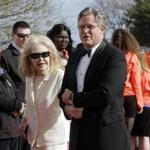 Ted Kennedy Jr. and his mom, Joan, arrived last month at the John F. Kennedy Presidential Library.