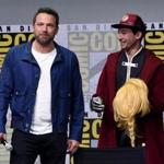 SAN DIEGO, CA - JULY 22: Actors Ben Affleck (L) and Ezra Miller attend the Warner Bros. Pictures
