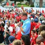 Mayor Martin J. Walsh kicked off his campaign for reelection outside Florian Hall in Dorchester on Saturday.