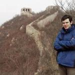 University of Montana student Guthrie McLean on the Great Wall of China.