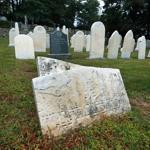 Several headstones appeared to have been toppled at Netherlands Cemetery in Melrose.