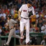 8Boston, MA - 8/19/2017 - (2nd inning) Boston Red Sox starting pitcher Chris Sale gave up a 3 run home run during the second inning. The Boston Red Sox host the New York Yankees in the second of a three game series at Fenway Park. - (Barry Chin/Globe Staff), Section: Sports, Reporter: Peter Abraham, Topic: 20Red Sox-Yankees, LOID: 8.3.3434734134.