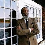 Plymouth, MA - 4/30/1992: Comedian and activist Dick Gregory poses for a portrait in Plymouth, MA on Apr. 30, 1992. (Janet Knott/Globe Staff) --- BGPA Reference: 170524_BS_031