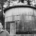 Cummington, MA - 4/20/1981: Poet Laureate Richard Wilbur and the converted silo which serves as his studio in Cummington, Mass., on April 20, 1981. (Richard Carpenter/Freelance) --- BGPA Reference: 170516_ON_036