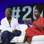 US Youth Poet Laureate Amanda Gorman (right) had a conversation with actress and singer-songwriter Cynthia Erivo during the Social Good Summit on Sunday.