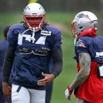 Foxborough, MA - 9/20/2017 - New England Patriots middle linebacker Dont'a Hightower (54) was back at Patriots practice in Foxborough. - (Barry Chin/Globe Staff), Section: Sports, Reporter: Jim McBride, Topic: 21Patriots Practice, LOID: 8.3.3782299408.