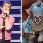 "New Kid on the Block singer Joey McIntyre (left) saw the new Stephen King movie ""It"" starring Bill Skarsgard as the demonic clown Pennywise."