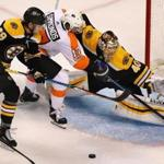 The Bruins played the Flyers Thursday in a preseason game.